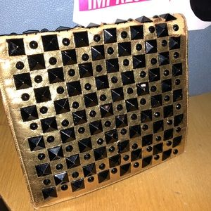 Vintage French fashion rhinestone clutch cute